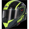 Casco Moto integral SWIFFER fluorescente S