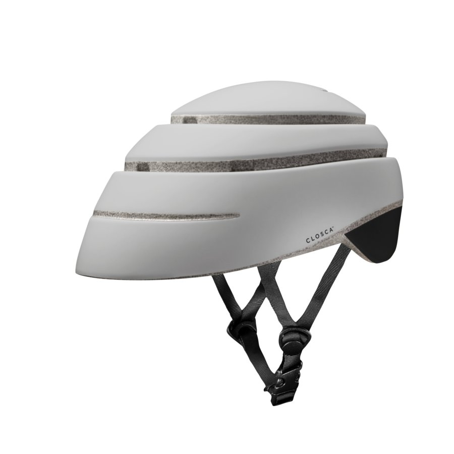 Casco plegable bicicleta/patinete adulto CLOSCA color Pearl Black talla L
