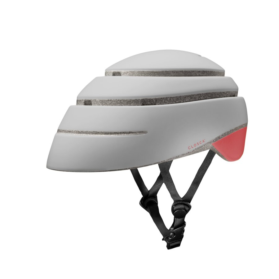 Casco plegable bicicleta/patinete adulto CLOSCA color Pearl Coral talla L