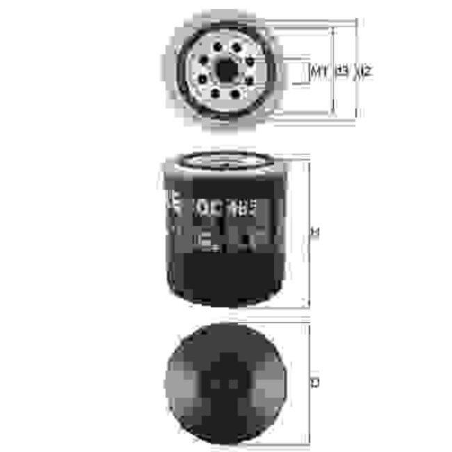 Filtro De Aceite Mahle Oc485