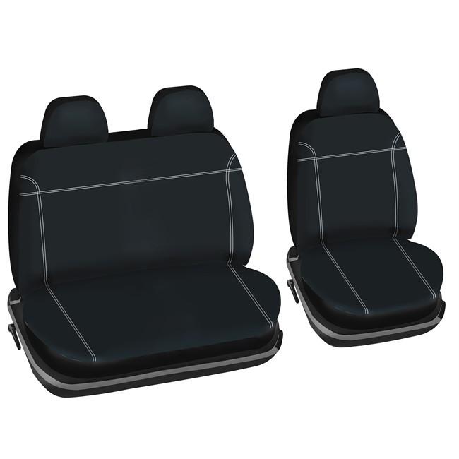 juego de fundas universales 2 asientos delenateros norauto utily furgoneta talla 6. Black Bedroom Furniture Sets. Home Design Ideas