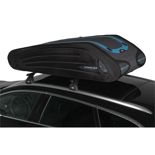 Maletero de techo flexible norauto bermude 5700 negro 570 for Maletero techo coche