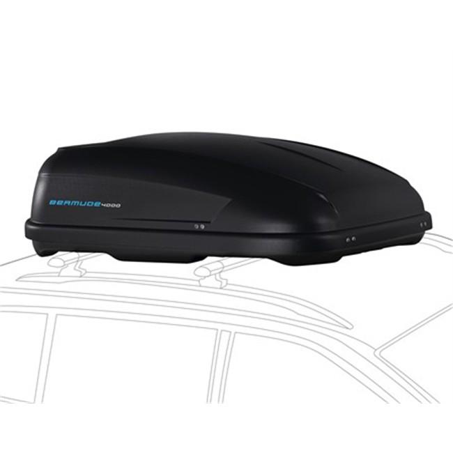Maletero de techo norauto bermude 4000 negro 400 l for Maletero techo coche